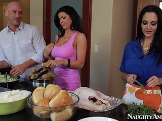 Ava Addams and Romi Rain Threesome Porn Dusting With Johnny Sins