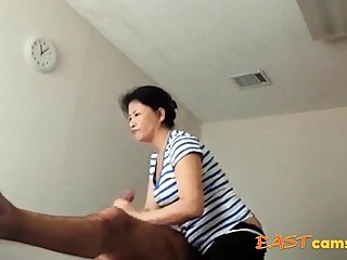 Asian Massage Front room Old Asian Lady Makes Client Ejaculate