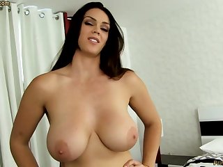 Fleshly dark-haired with fat funbags, Alison Tyler luvs to deep-throat meatpipe and taste some new jizm