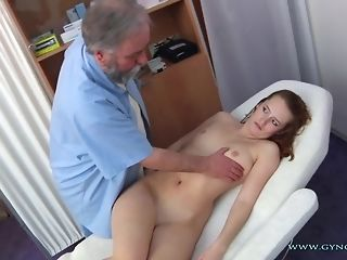 Long-legged Ginger Czech nymph Comes To older Paunchy obgyn medic freesex