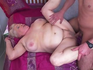 Youthful Gerontophile drills highly phat elder grandma In The brush unshaved off with sexvideo