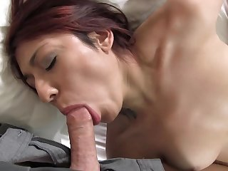 Morose young traveller Natalia gets cum covered in her first XXX scene