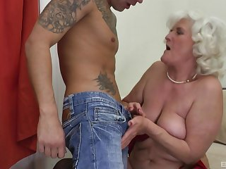 Blonde mature Judit Gali is the real master of verge on fuck with a dude