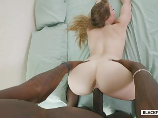 Loved pale gal Kenzie Madison is procure riding sloppy BBC on top