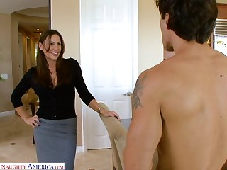 Hot blooded milf Sky Taylor rides a dick increased by gets her cunt nailed hard