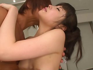 Small tits Japanese tot Yura Sakura fucked in her trimmed pussy