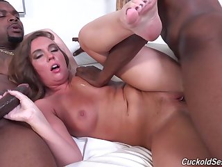 Hot Wife Double Penetrated By Couple Of Black Dicks
