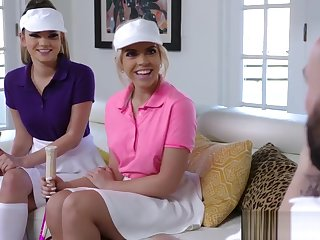 Horny Stepsisters In Tennis Uniforms Betterment to Idols House and Fuck Him