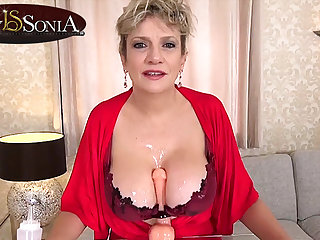 More ball up off instructions from busty mature Lady Sonia