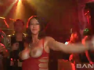 The hottest reality scene newcomer disabuse of the night club and these hoes look sexy as fuck