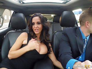 Mature wife Ava Addams in stockings enjoys riding a rock hard dick