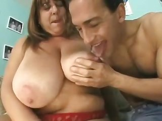 Bbws Granny all over White-hot Lingerie has fun with freaky guy