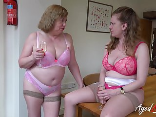 Two mature ladies added to one huge cock in hardcore sexual video