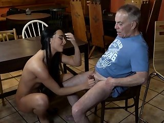 Old young slave increased by popsy feet first time Keister you