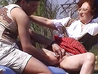 84 ripen old mom fucked by stepson