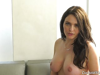 Sexy topless lass Krissy Lynn and her horny interview to enjoy