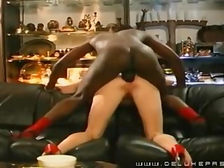 Cougar Pounded In The Bootie By A Black Tramp - Cuckold