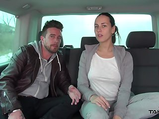 Only ordinary unilluminated hoe Vanessa fucking missionary hard in the car