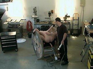 Horny man pest fucks obedient slave girl in brutal BDSM