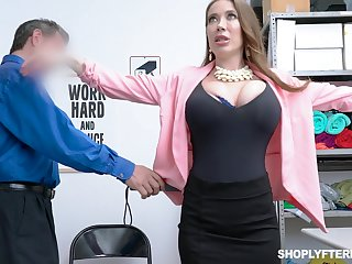 Giant breasted slutty MILF Bianca Burke is bent go away from and fucked doggy wits copper