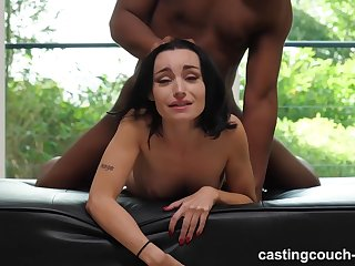 Tattooed slut was sucking a black guy's big, fat dick, because he asked be worthwhile for drenching