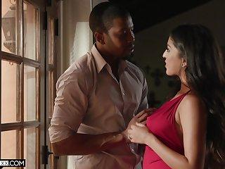 Sex-appeal spoil Sophia Leone is fucked by black lover Isiah Maxwell
