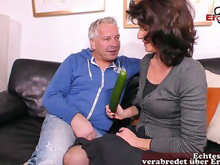 German ugly fat mature housewife cucumber roger