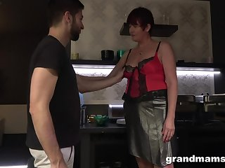 Hot nextdoor granny turned to be a blowjob expert and insatiable old whore