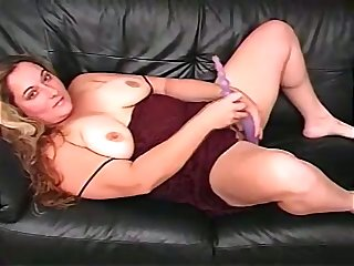 Amazing alone toy addicted fat whore masturbates her meaty pussy
