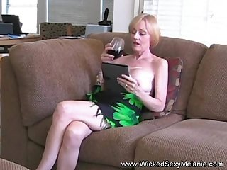 Hot BJ from the staggering Wicked Sexy Melanie she gets a nasty cumshot facial here too