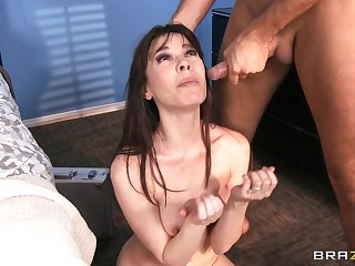 Smooth lovemaking with ass screwing ends with a facial for Dana DeArmond