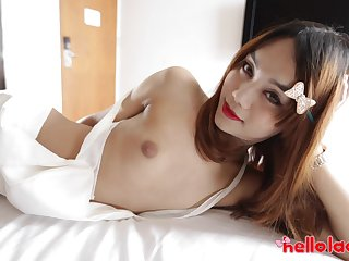 Asian shemale Ning is made for some fully hard doggy anal banging