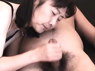 Chie loves sucking cock, 50's matured tutor teacher