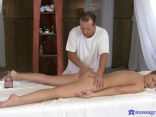 Nude fingering on the massage table grants tie the knot a mesmerizing time