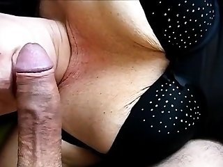 Unspecific in nice undergarments blows cock
