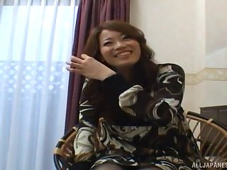 Amateur video of a taking Japanese girl getting fucked drool deep