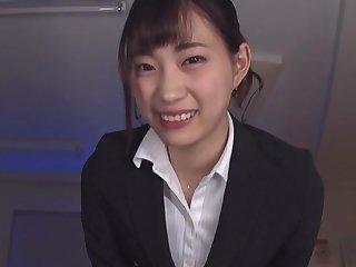 Video of hot secretary Mitani Akari riding a dildo in the office